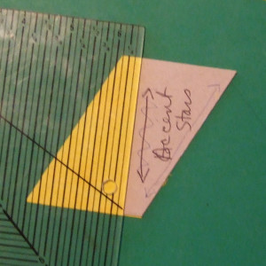The cutting principle remains the same regardess whether you're doing a primary (edge) cut or a cross-cut.