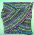 Self-striping merino blend mobius
