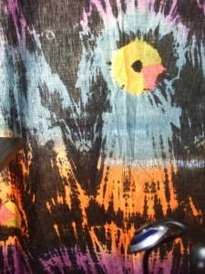Tie dyed batik broadcloth
